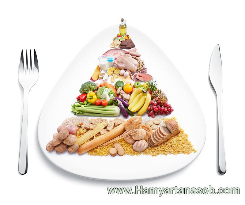یک برنامه غذایی مناسب برای کاهش چربی های شکم