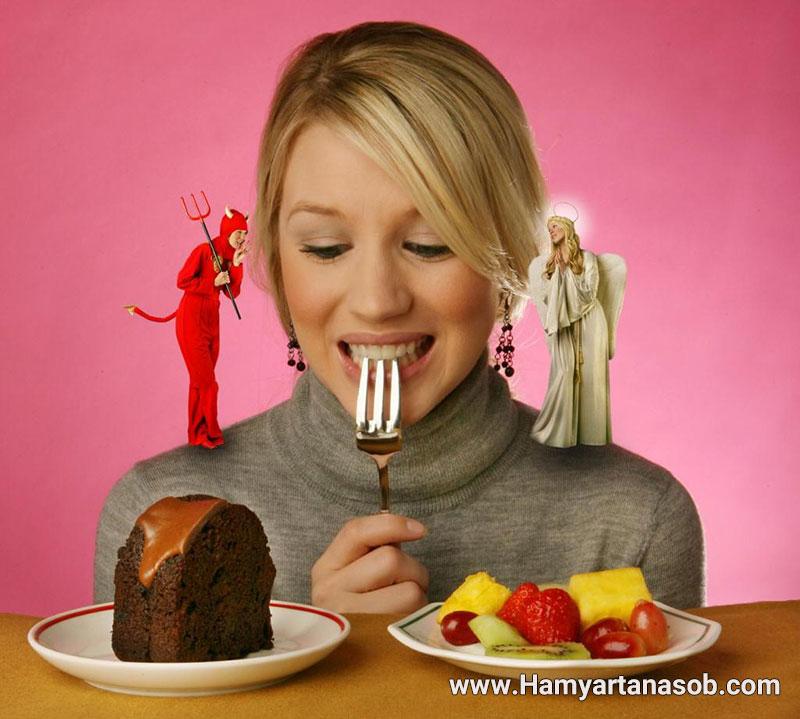 کیک و شیرینی برای کنترل گرسنگی