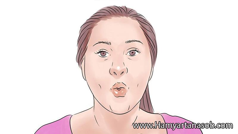 حرکات ورزیشی چاقی صورت